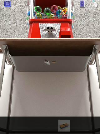 cubic room2攻略 ガチャの下の机
