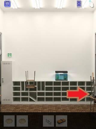 脱出ゲーム cubic room2/キュービックルーム2攻略 教室の部屋の右隅