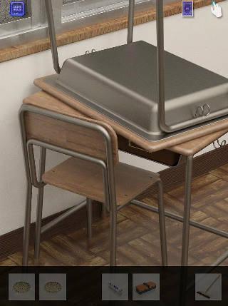 脱出ゲーム cubic room2/キュービックルーム2攻略 机のある教室